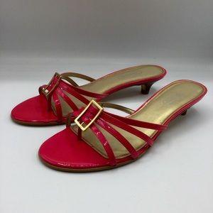 Talbots Pink Kitten Heel Sandals Size 8